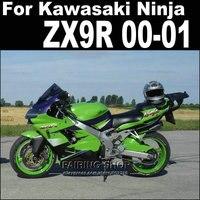 Полная abs части ZX9R обтекатели для Kawasaki Ninja 2000 2001 00 01 (зеленый, серебро) зализы Aftermarket комплекты + 7 подарки бесплатная XL10