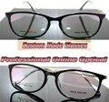 Ретро черная рамка очки сплава нога дамы на заказ оптические линзы очки для чтения 1.0 + 1.5 + 2.0 + 2.5 + 3.0 + 3.5 + 4.0 + 4.5 + 6