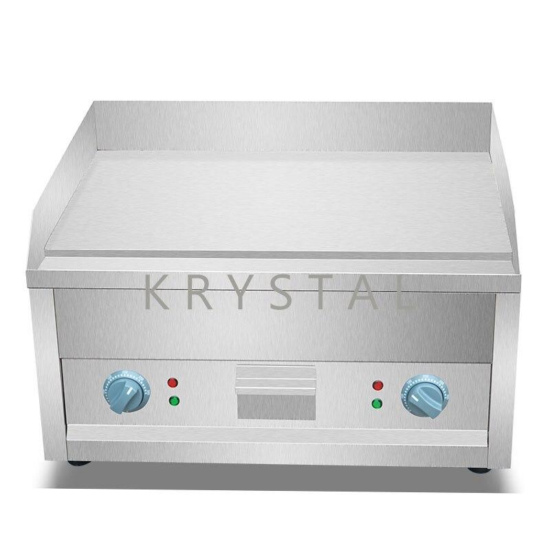 Machine de gril électrique de gril de gril d'acier inoxydable Machine de friture plate de viande de Machine commerciale FY-610