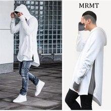 2017 Brand new Clothing Mens Hoodies Sweatshirts Hip Hop Long Zipper Streetwear Sweatshirt Cut Extended Hoody Men male shirts