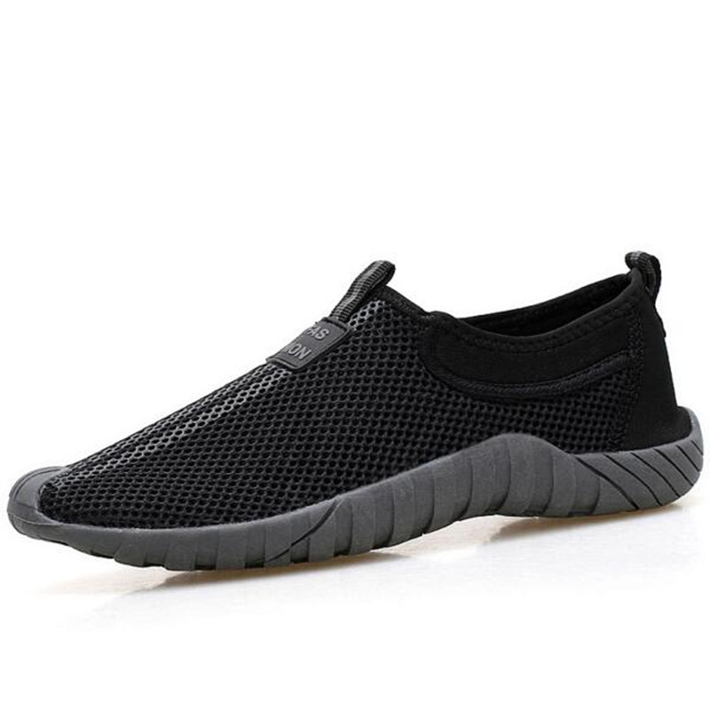 Unisex Casual Shoes Lover Shoes Loafers Summer Men Mesh Shoe Breathable Network Shoes Slip On Flats For Man Loafers 35-46