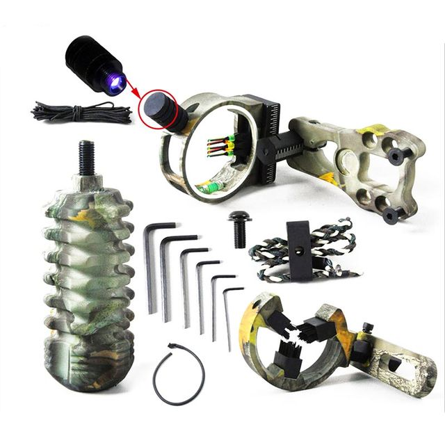 Hunting Archery Crossbow Bow Accessories Combo Bow Sight Kits Arrow Rest Compound Bow Stabilizer String Wax 3
