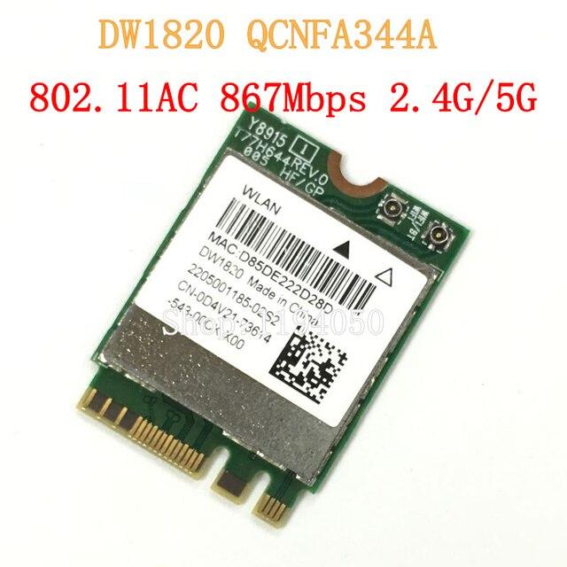 Atheros QCNFA344A DW1820 802.11AC Bluetooth 4.1 867 Mbps WLAN WiFi Draadloze 802.11AC NGFF Mini WLAN KAART beter dan BCM94352Z
