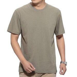 Image 5 - Mens Big T Shirt Large Size 15XL 14XL 13XL 8XL 9XL 10XL 11XL 12XL Short Sleeve Round Neck Loose Casual Black Gray White