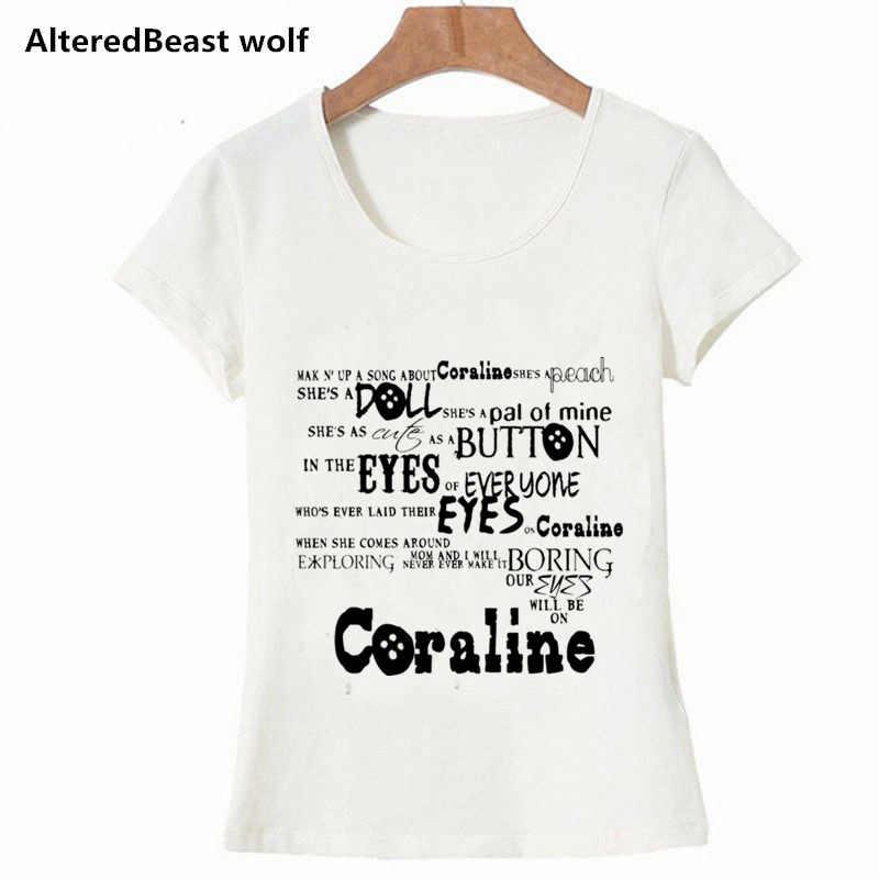 Fashion Brand 2019 T Shirts Coraline Women T Shirts O Neck Short Sleeve Summer Tops Tees Print Coraline Clothing T Shirts Aliexpress