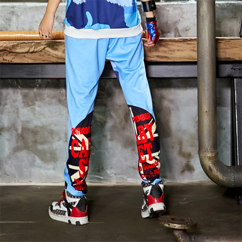 just.be.never camo cargo pants feminino plus size clothes women pants casual hip hop style dance costumes blue white elatic 2018