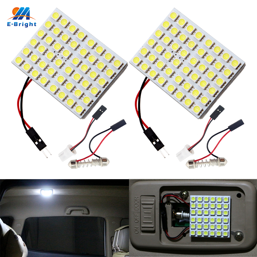 Qualified Ym E-bright Panel 5050 48 Smd 2pcs 48 Led Car Light 12v Interior Lamps With T10 Festoon Adapters Reading Lamp Super Bright Catalogues Will Be Sent Upon Request Automobiles & Motorcycles