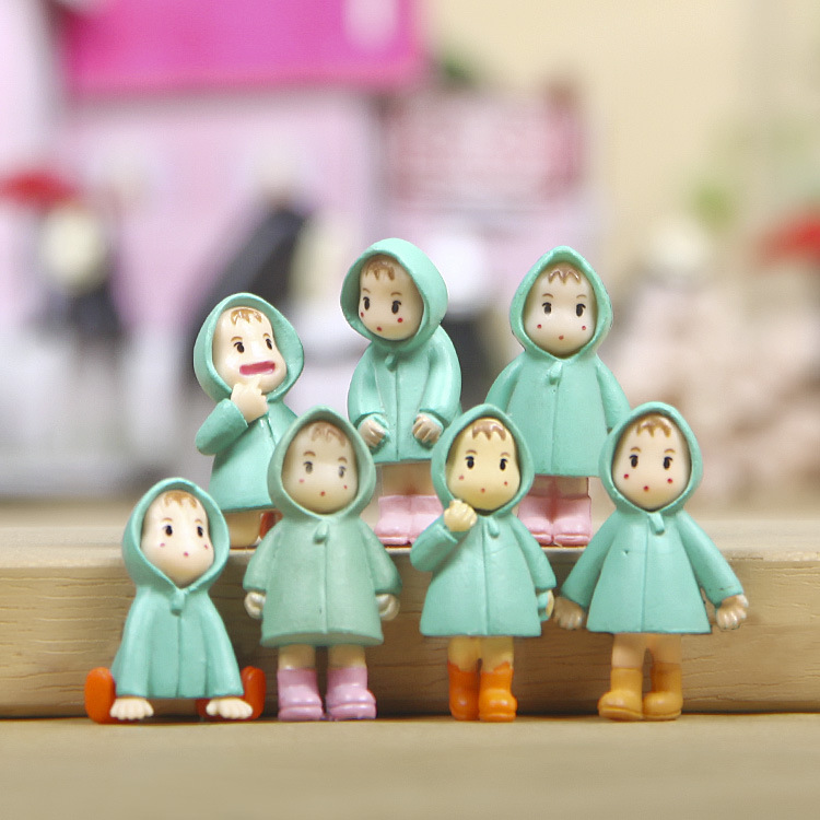 Hayao Miyazaki Totoro Pose DIY Landscaping raincoat Xiaomei micro landscape gardening ornaments Action Figure doll toys image