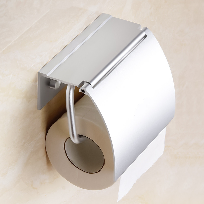 High quality modern aluminum alloy Toilet Paper Holder Storage rack wall-mounted roll paper holder Bathroom accessories luxury golden color toilet paper holder wall mounted roll toilet paper rack with cover bathroom accessories free shipping 3308