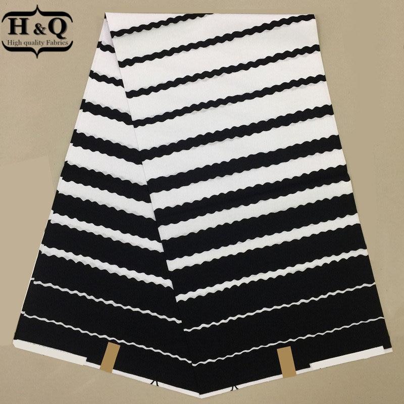 11 Disegno in Bianco E Nero Africana Stampe Tessuto Cera Reale Hollandais cera 100% Cotone 6 Yards/Pcs Tessuto della Cera Per La Chiesa di Stoffa