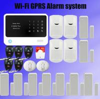 New G90B Security GSM WIFI Alarm System With GPRS Touch Keypad LCD Display IOS Android APP
