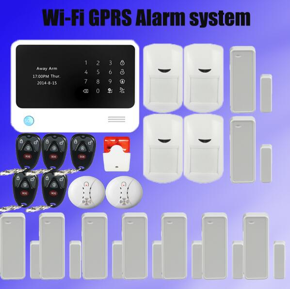 433mhz Security WIFI Gsm Alarm Systems WIFI GSM GPRS Wifi Automation GSM Alarm System Home Protection GPRS WIFI GSM Alarm System sim900 gsm gprs minimum system module blue black