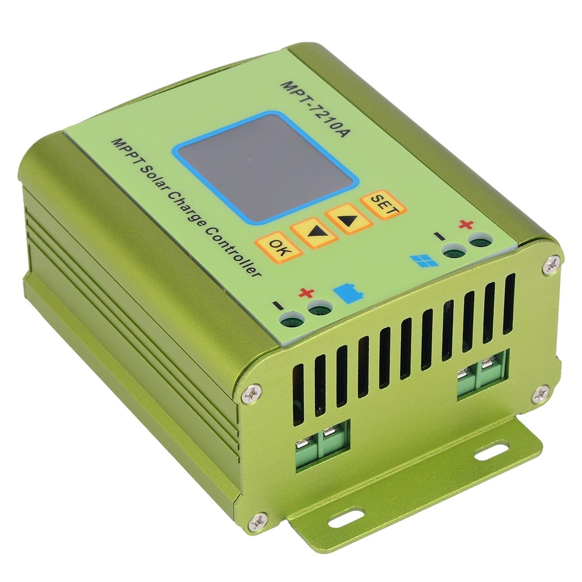 Contrôleur de Charge de batterie de panneau solaire MPPT régulateur de contrôleurs solaires d'affichage à cristaux liquides pour le système de batterie de 24/36/48/60/72 V 10A