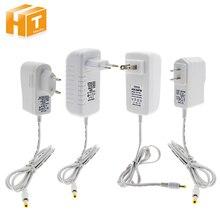 12V אספקת חשמל מתאם לבן מעטפת AC100 240V תאורת רובוטריקים פלט DC12V 1A / 3A כוח ממיר עבור LED הרצועה.
