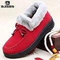 Precioso Piso Suave Hogar Cálido Zapatos Zapatillas 2016 Zapatillas De Algodón De Invierno Las Mujeres de Invierno de la Felpa Cómoda Piel Cubierta Zapatillas de la Mujer