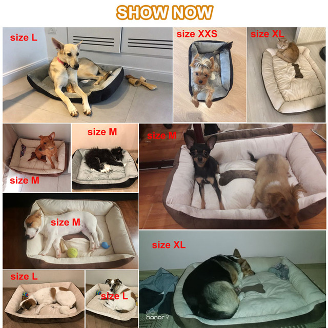 6 Size Soft Fleece Pet Dog Bed Cushion Bone Print Large Breed Dog Beds For Labrador Golden retriever Summer Dog Mat 5
