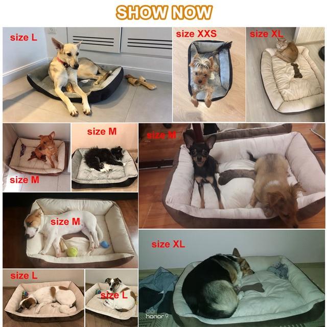 6 Size Molle Fleece Dog Pet Cuscino Letto Letti Stampa Osso Grande Cane di Razza Per Labrador Golden retriever