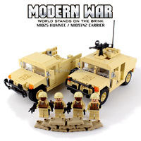 Compatible LegoINGlys Military Model War SWAT Series Military transport vehicle with soldier Building Blocks Toys For Kids Gift