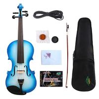 Yinfente Electric Acoustic Violin 4/4 Maple+Spruce Hand made Free Case+bow+Cable#EV1