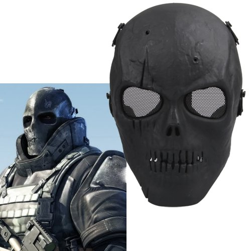 NFLC Airsoft Mask Skull Full Protective Mask Military - Blac terminator full face mask skull mask airsoft paintball mask masquerade halloween cosplay movie prop realistic horror mask