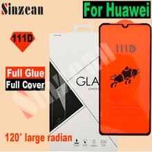25pcs Per Huawei P20 lite 2019/Honor 8X/10 lite/20 lite/20 Pro/y9 Prime 2019 111D Copertura Completa Temperato protezione dello schermo di Vetro