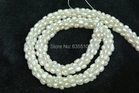 1 Strand Handmade 3mm Pearl Rice Beads Snake Chains Loose Necklace 18 Inches Per Pc Fashion