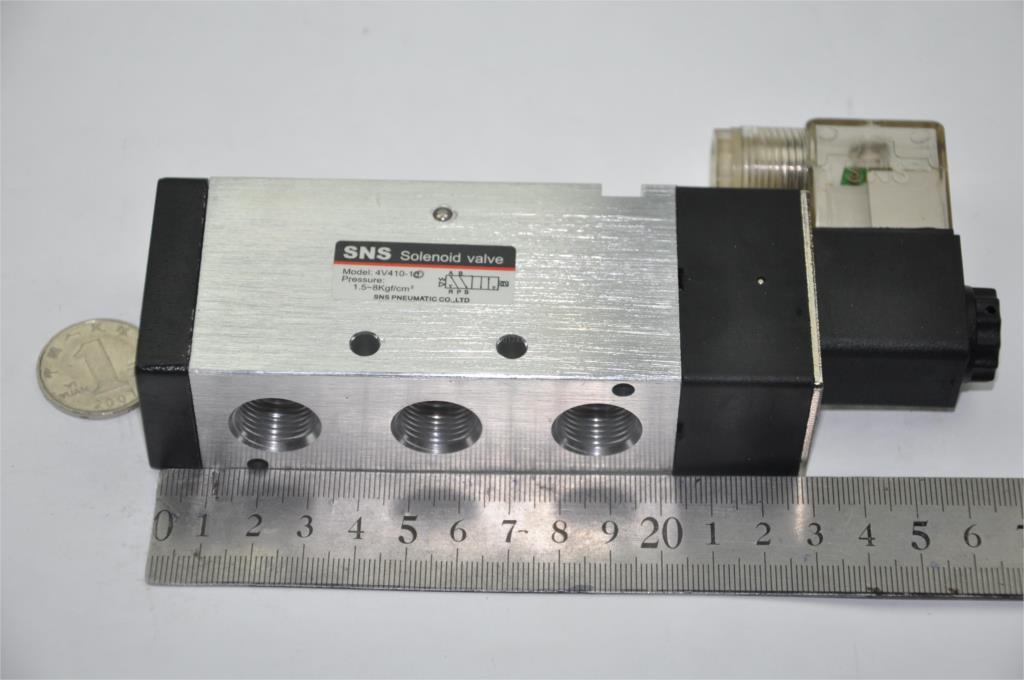 4V410-15  RC1/2''  DC12V DC24V 220V 2 position 5 port Solenoid Control Valve (4V Series) SNS pnematic parts Air valve 2/5ways