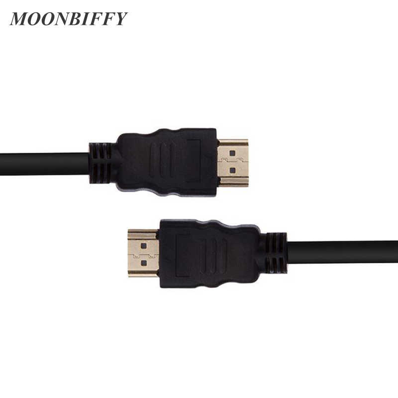 MOONBIFFY 1M/1.5M//3M/5M High speed Gold Plated Plug Male-Male HDMI Cable 1.4 Version HD 1080P 3D for HDTV XBOX PS3 computer