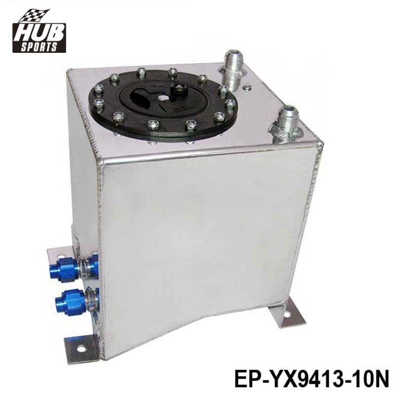Hunsports - Universal Car Auto Fuel Surge Tank Container 10 Litre Swirl Pot System Alloy HU-YX9413-10N east fuel tank cover universal type