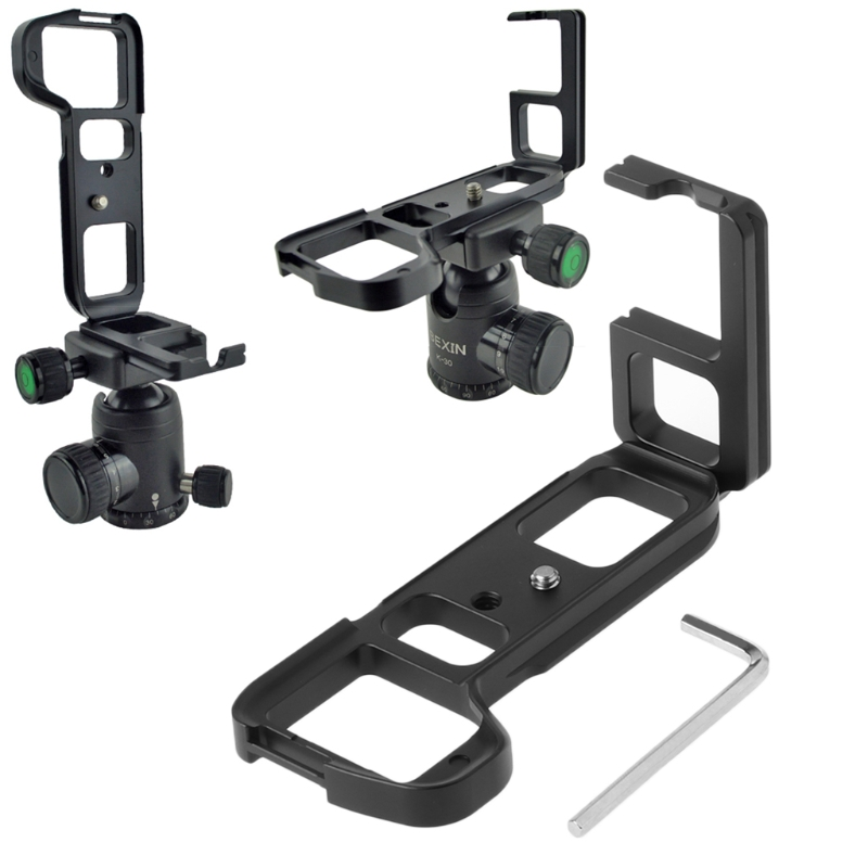 SUPON LB-A7M2 Quick Release Vertical L shape Bracket Plate Hand Grip for Sony Alpha a7 II A7II / A7RII/ A7SII ILCE-7M2