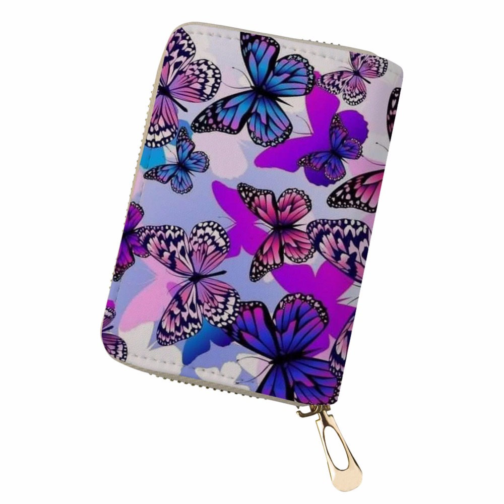 Card & Id Holders Purposeful Noisydesigns Pu Leather Kaarthouder Butterflies Colorful Cards Holder Pokemon Cards Durable Pouch Bag Womens Wallets And Purses Dependable Performance