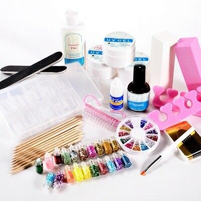 uv gel starter kit manicure set for nail art set na826 in. Black Bedroom Furniture Sets. Home Design Ideas