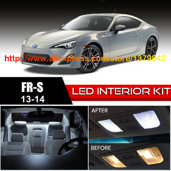 Free Shipping 10pc lot car styling LED Lights Car Styling Hi Q Interior Package Kit For 13 14 Scion FR S in Signal Lamp from Automobiles Motorcycles