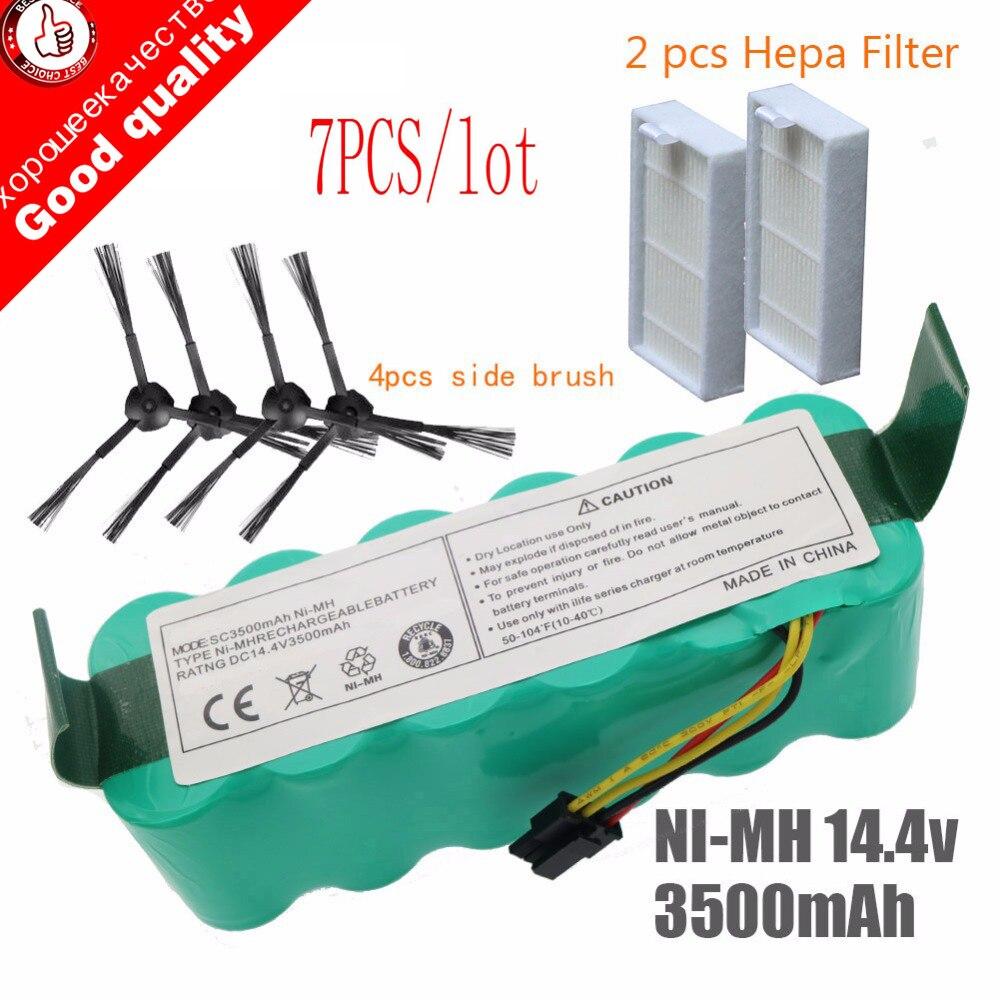 7pcs NI-MH 14.4V High Quality Battery 3500mAh For Panda X500 Battery For Ecovacs Mirror CR120 Vacuum Cleaner Dibea X500 X580