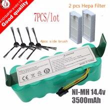 цена на 7pcs NI-MH 14.4V High quality Battery 3500mAh for panda X500 Battery for Ecovacs Mirror CR120 Vacuum cleaner Dibea X500 X580