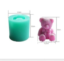Cute Teddy Bear Shape fondant silicone soap mold kitchen baking chocolate pastry candy Clay making lace decoration tools FT-0121