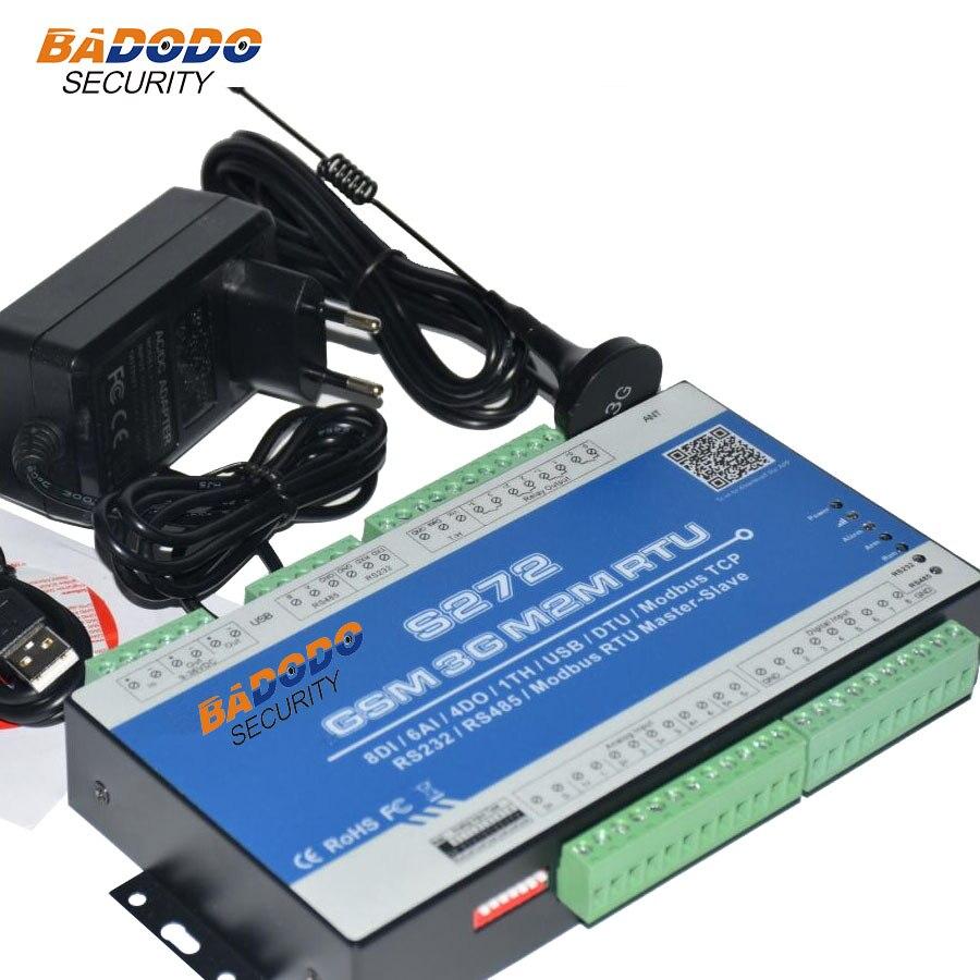 Badodo GSM 2G 3g SMS RTU контроллер 4DO 8DI контроллер сбора Modbus RTU протокол RS485 232 переключатель вход/выход S272