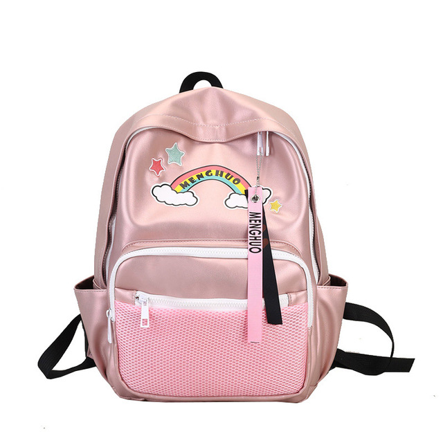 732ba198fc5d menghuo mochila escolar kawaii pink backpack leather woman rucksack girl school  bags for women back pack