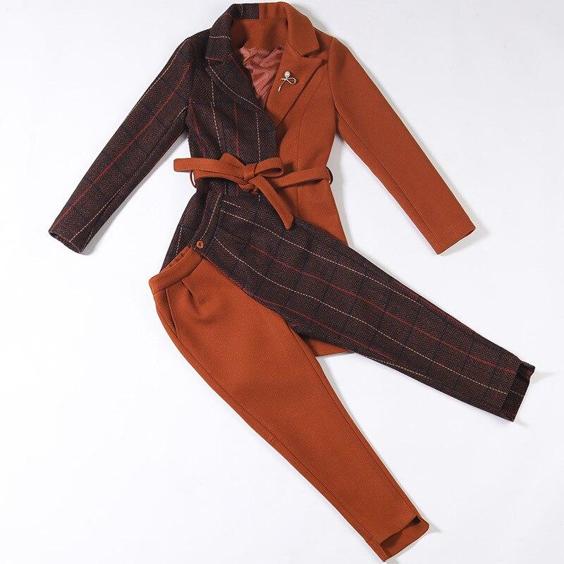 Nouveau same Sont Populaire The Deux Couture Picture De Pantalon Asymétrique pièce As Maintenant Femmes Pour Costume veste couleur Same Deux Costumes Picture Uq4REXnU