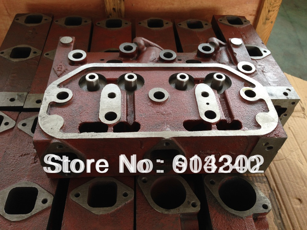 295C Cylinder head - weifang 295D 295C series diesel engine parts /marine engine parts /weifang marine generator parts water pump for 495 4100 weifang diesel engine parts
