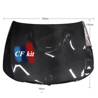CF Kit M3 Style Bonnet Hood For BMW 3 Series E90 Real Carbon Fiber 2005 2008 Hood Vents Cover Car Styling