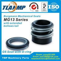 MG13 28 Burgmann Mechanical Seals MG13 Series For Shaft Size 28mm Pumps 28x49x50mm Rubber Bellow Seals