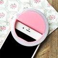 Telefone inteligente led ring flash selfie enhancing luz beleza caso luminoso para iphone 6/6 s rosa