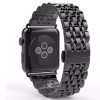 2017 nieuwe stijl rvs ruimte grijs smart watch band voor apple watch band 38mm 42mm armband verborgen sluiting sport editie