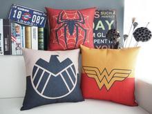 Spiderman pillow cover, Superhero Aegis Bureau Spider man Wonder Woman throw pillow cover pillowcase Wholesale