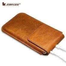 Jisoncase натуральная кожа Коке для iphone 6S плюс Чехол чехол для iPhone 6 plus сумка Магнитная застежка сумка 5.5 дюймов