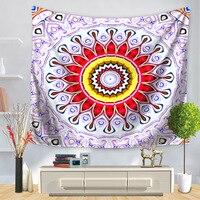 Mandala Indian Tapestry Wall Hanging Bohemian Beach Towel Tapestry Tenture Murale Blanket Yoga Mat 150x200cm Louts Mandala Tapiz