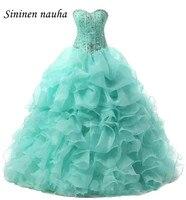 Quinceanera Dresses Long Prom Party Dress Beaded Organza Juniors Ball Gown Wedding Cheap Vestidos De 15 Anos Sweet 16 Dresses 53
