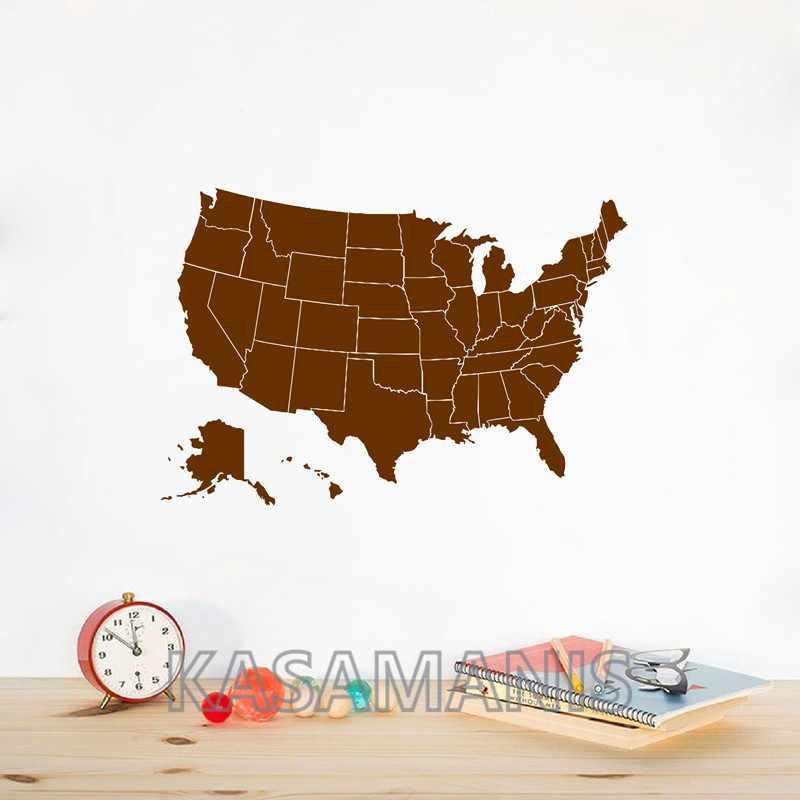 Detail Feedback Questions about United States of America Map Wall ...