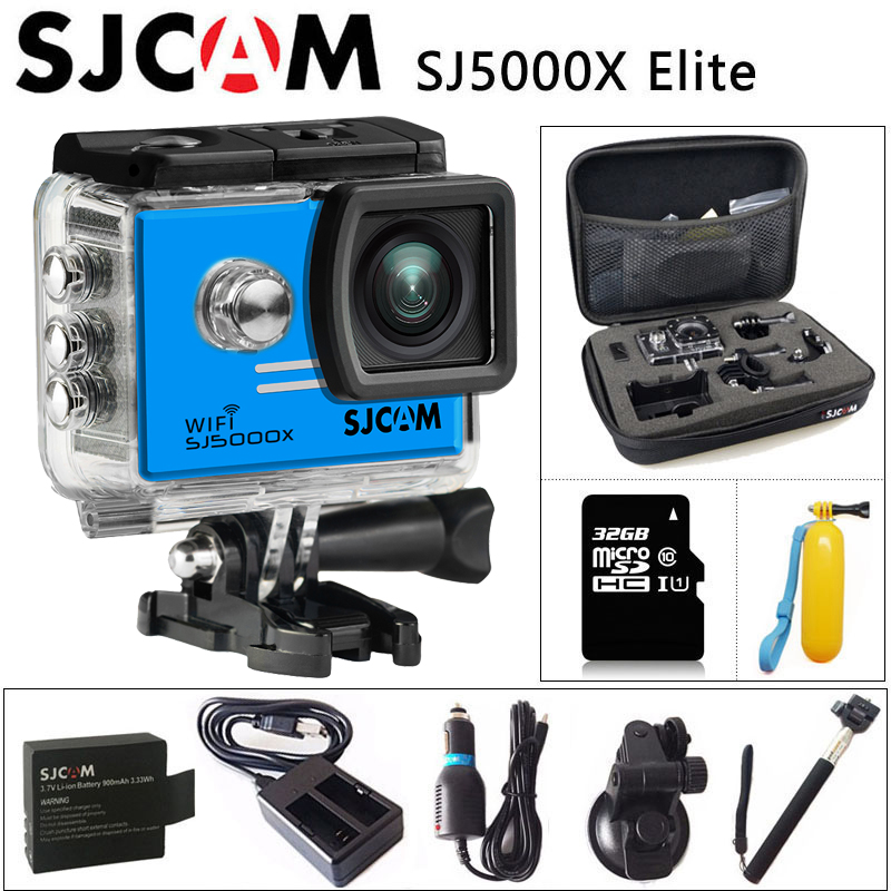 цена на Original SJCAM SJ5000X Elite Gyro Sport Action Camera WiFi 4K 24fps 2K 30fps Diving 30M Waterproof NTK96660 SJ CAM 5000 CAR DV